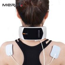 ไฟฟ้า PULSE Neck Massager Magnetic therapy นวดบรรเทาปวดคอปากมดลูก Care ผ่อนคลายการรักษา USB ชาร์จ