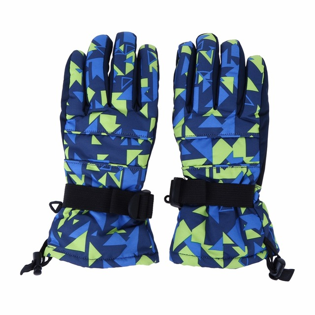 1Pair Unisex Warm Ski Gloves Waterproof Full Finger Skiing Gloves Men Winter Snowboard Guantes Women Motorcycle Cycling Mittens