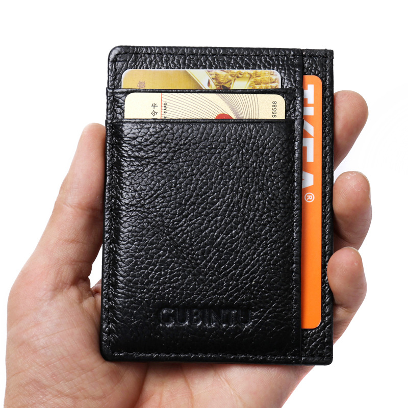GUBINTU Leather Wallets Men Purses Korean Style Business Casual Men Card Pocket Front Pocket Id Case --BID075 PM15