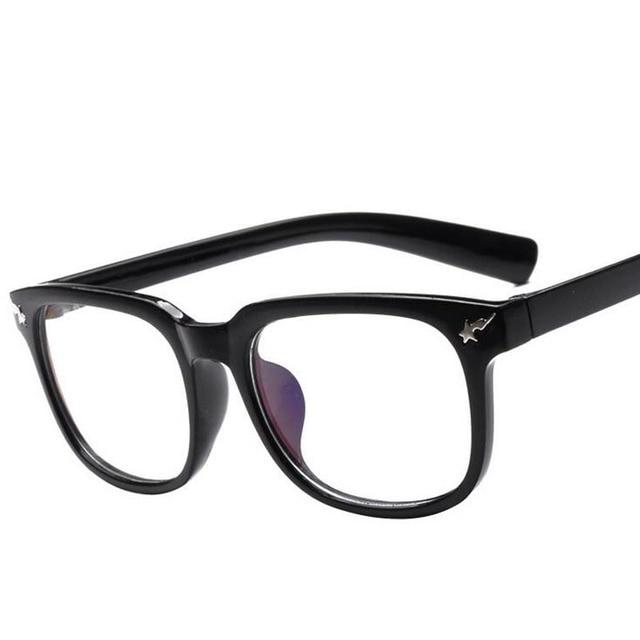 b05e117a5ea Tide brand ape head lightning stars rivet black full frame glasses Radiation  plain mirror glasses