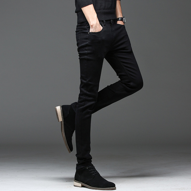 Batmo 2019 new arrival high quality casual slim elastic black jeans men ,men's pencil pants ,skinny jeans men 2108 20