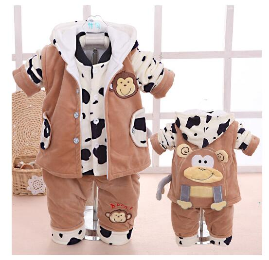 The baby's clothes in spring and autumn winter 1 -2-3 years long sleeved out three suits 3pcs/set