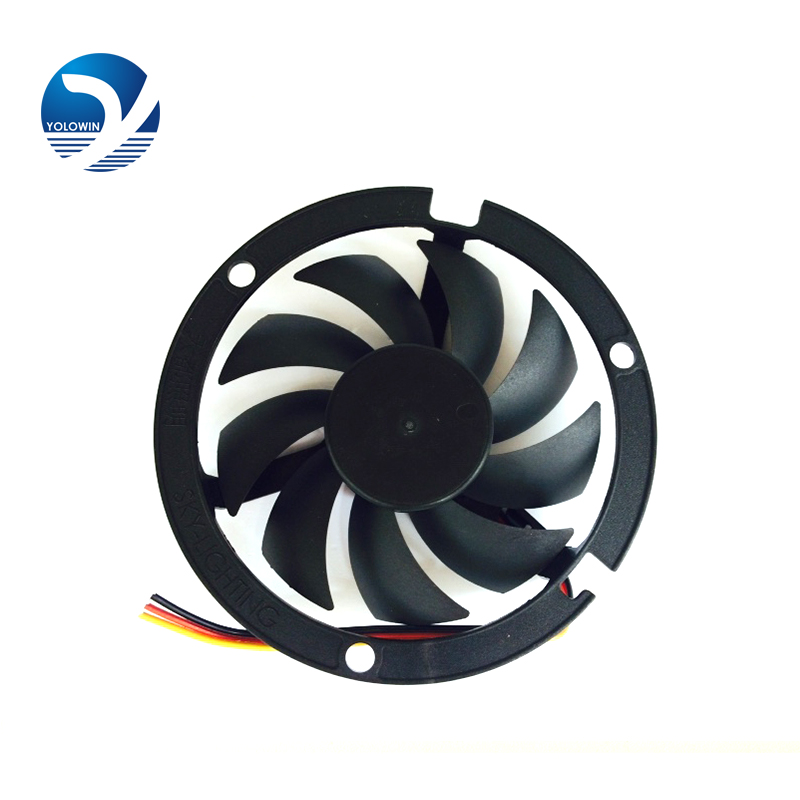 Computer Cooling Fan 80*80*15mm 2200RPM CPU Round 12V Cooler Fans Black round box fan bracket  YL 0045-in Fans & Cooling from Computer & Office