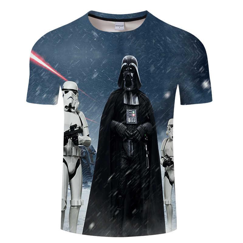Uomini Darth Vader Heavy Metal di stampa Divertente 3d T Camicette Manica Corta Tee di modo Creativo di star wars t-Camicette hip Hop Magliette e camicette tshirt