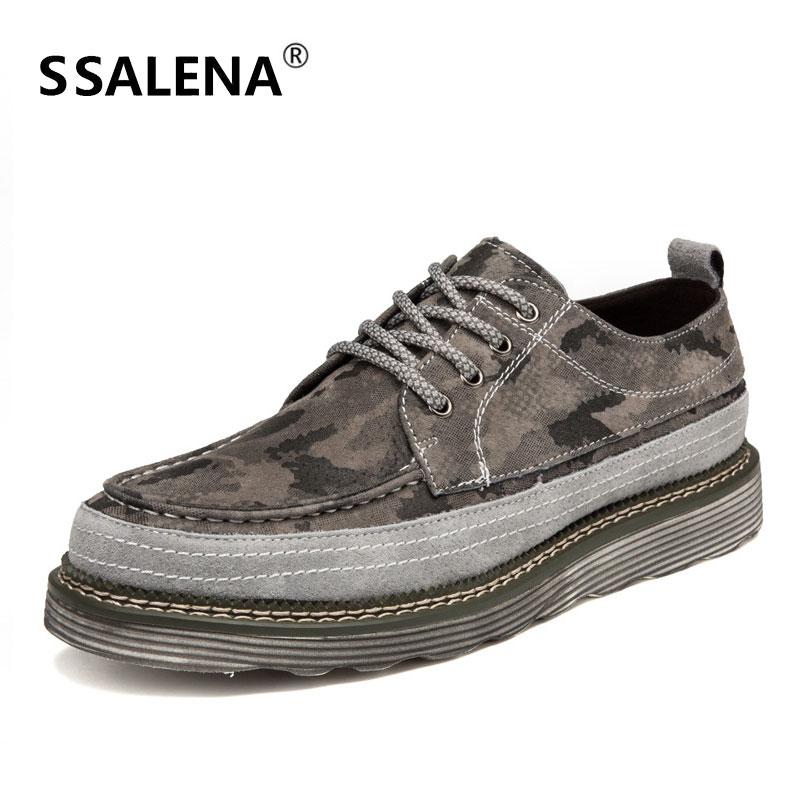 Moda Sapatos Confortáveis Lace Do Couro verde Casuais Da Preto Mens Vintage Oxford Lazer De up cinza Clássico Homens Camuflagem Aa51717 gqP5wq7f