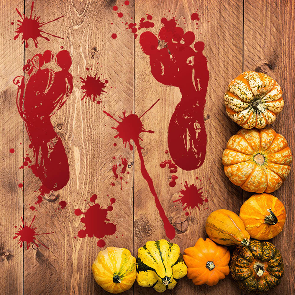 Responsible 30x45cm Blood Foot Sticker Zombie Halloween Life Size Wall Floor Sticks Decor Wall Stickers For Kids Rooms Adesivo De Parede*8 Spare No Cost At Any Cost Home Decor