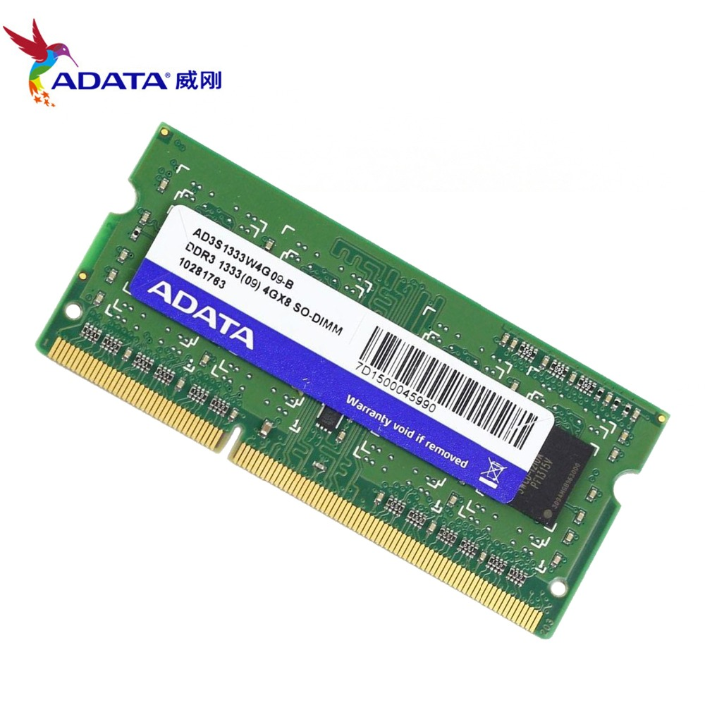 Crucial 4GB DDR3 1333 MHz PC3-10600 1.35V 1.5V Laptop RAM Sodimm Memory 204 pin