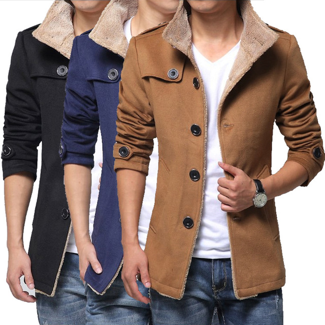 TG6352 Cheap wholesale 2016 new Coat to keep warm with thick winter coat cloth coat of cultivate one's morality men's tide