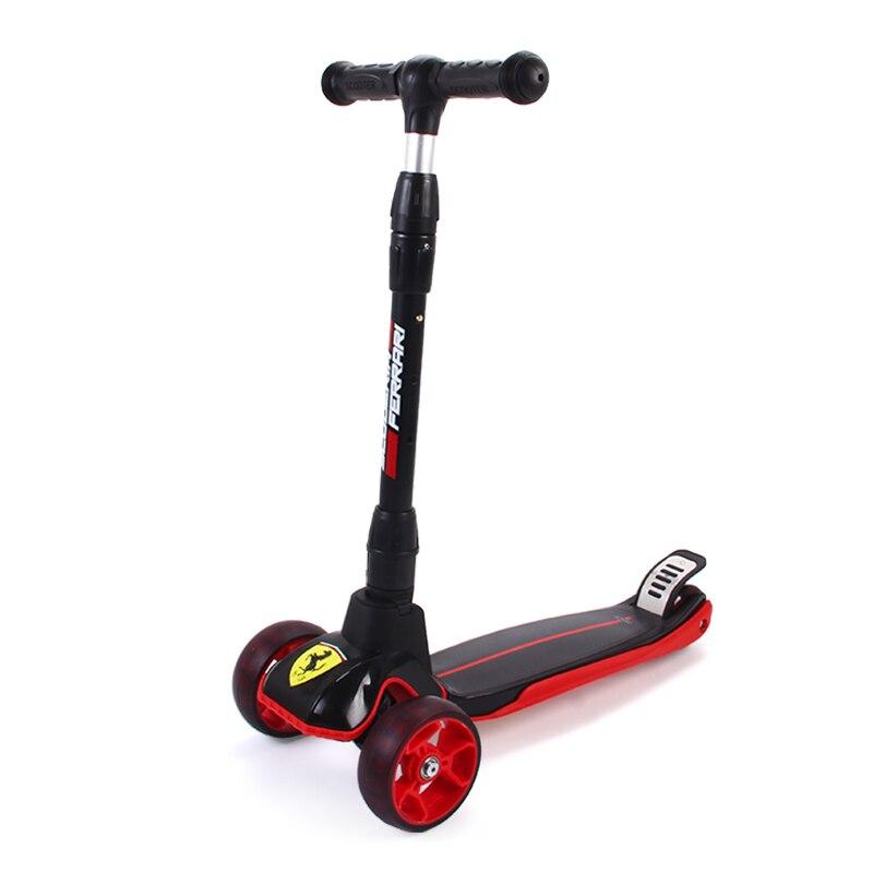 Enfants Kick Scooter 3-10 ans Sport de plein air musculation Scooter pour enfant enfants garçons filles béquille 3 roues jouets Scooter