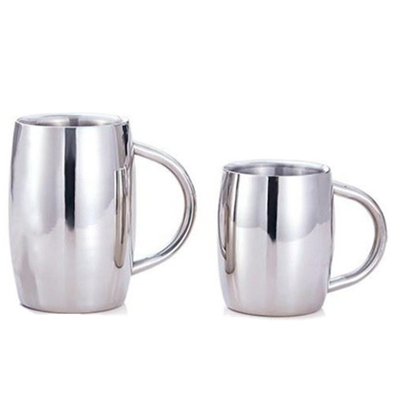 Permalink to Drinkware New Stainless Steel Beer Coffee Mug Cup Creative Mark With Handle Simple Drinkware