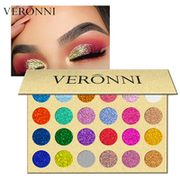 1PC Brand Shiny Eye Shadow Color Cosmetics Waterproof Shimmer Gold Silver Red 24 Glitter Makeup Eyeshadow