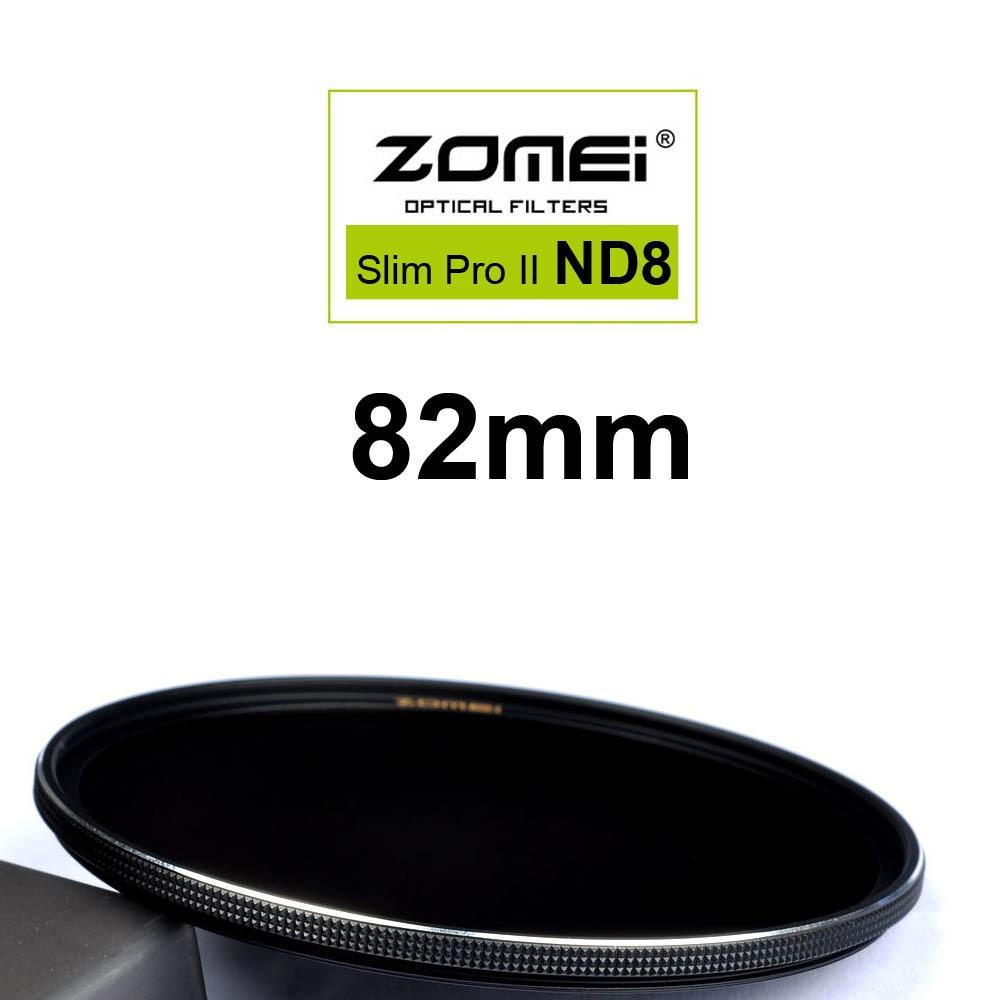 Zomei 82 мм Ультра Тонкий ND8 ND0.9 8X3 Остановки Экспозиции Щепка Оправе стекло Нейтральной Плотности ND Фильтр для Canon Nikon Sony объектив 82 мм