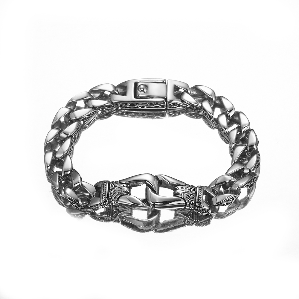 c70f3ce011e3c Acheter Bracelet Punk Pour Hommes 316L En Acier Inoxydable Trottoir ...