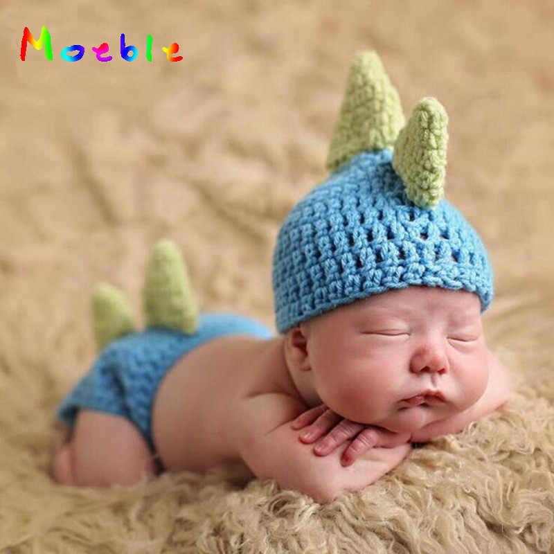 790550933 Lindo dinosaurio bebé niños ganchillo foto utilería Animal traje tejido bebé  venir a casa trajes recién