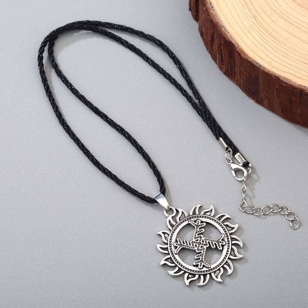 Chengxun viking men necklace cross sun pendant good luck symbol chengxun viking men necklace cross sun pendant good luck symbol gammadion svastika wheel of life nordic slavic amulet collier in pendant necklaces from buycottarizona
