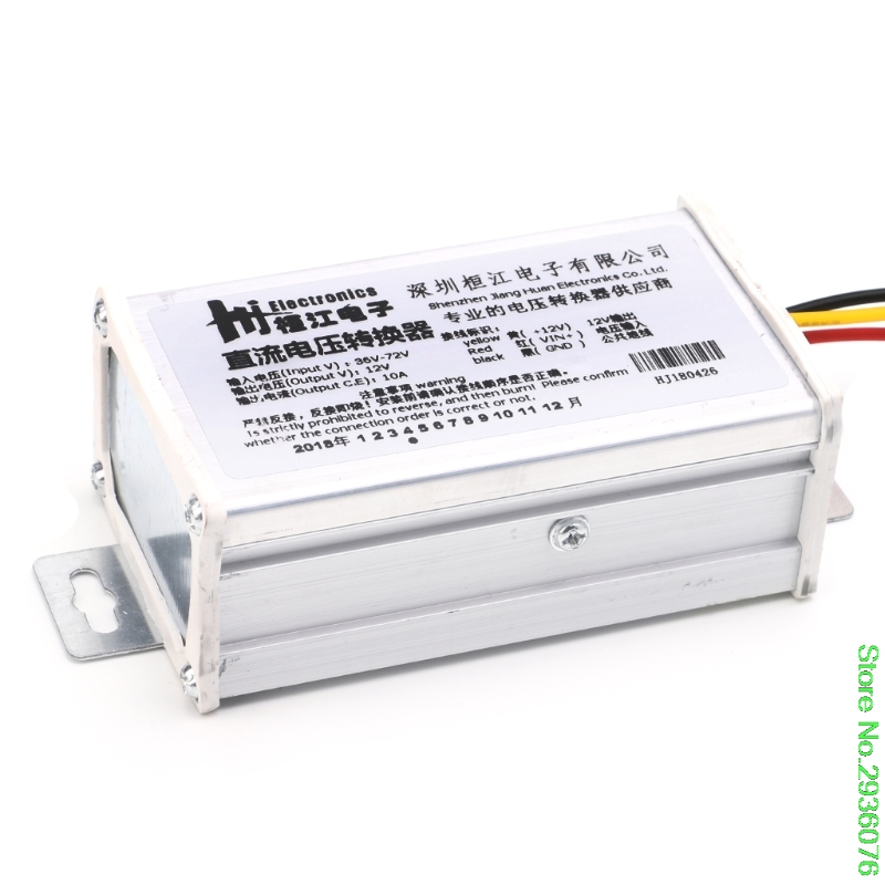 New DC 36V 48V <font><b>72V</b></font> To 12V 10A 120W Converter <font><b>Adapter</b></font> Transformer For E-bike Electric Support image