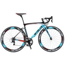 Opony SAVA rower szosowy 700c węgla rower szosowy rower rower wyścigowy prędkości rama z włókna węglowego widelec widełki roweru 18 prędkości rower z SHIMANO SORA R3000 tanie tanio Unisex Carbon Fibre Aluminum Alloy Road Bike 160-180 cm 9 8kg Double V Brake 0 1 m3 Zwyczajne pedału 150 kg 15kg Nie Amortyzacja