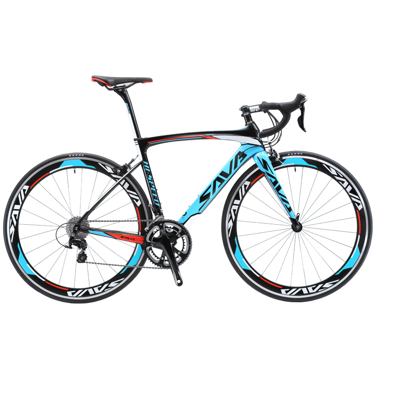 SAVA vélo de route 700c carbone vélo de route vélo de course vélo vitesse cadre en carbone/fourche vélo 18 vitesses avec SHIMANO SORA R3000