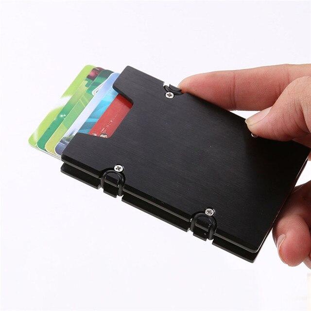 Men and women minimalist metal wallets slim mini business card men and women minimalist metal wallets slim mini business card holder aluminum credit card protector best colourmoves