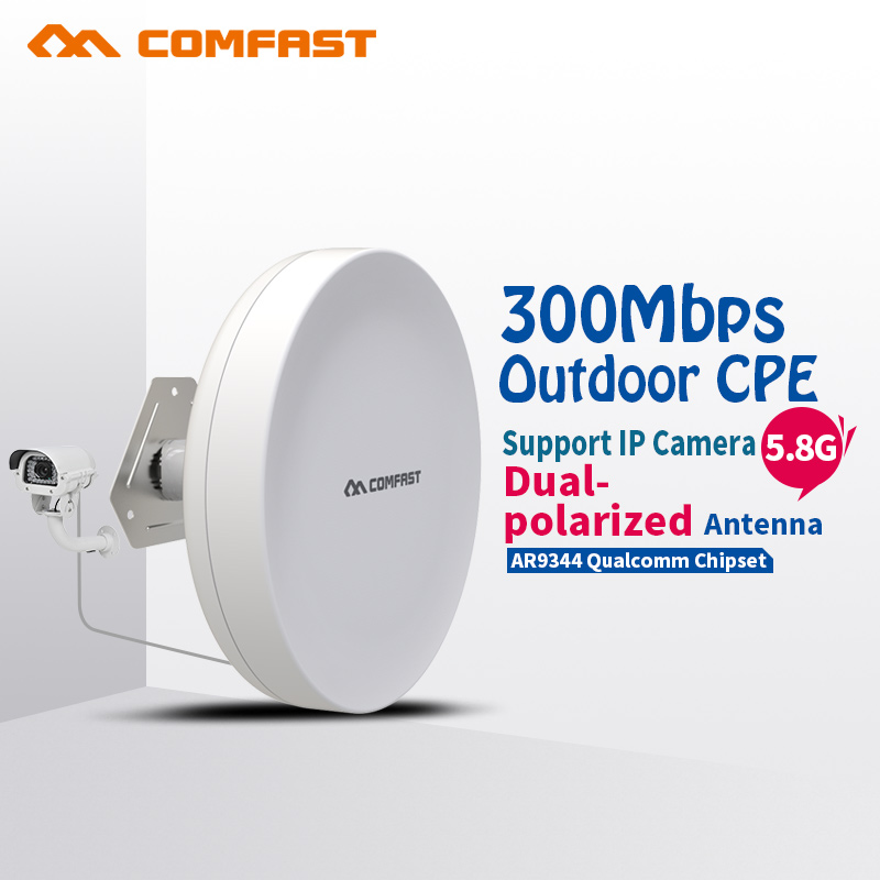 COMFAST Outdoor Network Bridge 300Mbps Access Point 5.8g WIFI Signal Booster Amplifier 3-5KM Long Range For Project CF-E211A comfast wireless outdoor router 5 8g 300mbps wifi signal booster amplifier network bridge antenna wi fi access point cf e312a