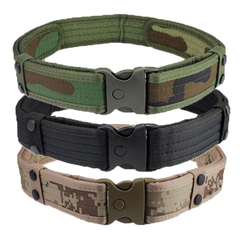 NUEVOS Hombres Cinturones de Lujo Cinturones Waistband Táctico Militar Caza Camu