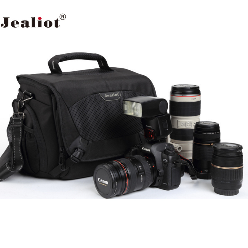Jealiot Multifunctional Professional Camera shoulder Bag digital camera waterproof shockproof Video Photo case for DSLR Canon jealiot multifunctional professional camera shoulder bag waterproof shockproof big digital video photo bag case for dslr canon