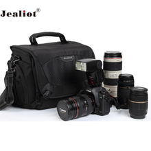 Jealiot Multifunctional Professional Camera shoulder Bag digital camera waterproof shockproof Video Photo case for DSLR Canon