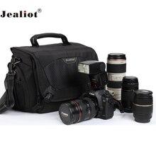 Jealiot المهنية slr حقيبة كاميرا عدسة الكتف حقيبة صور Dslr كاميرا رقمية للصدمات فيديو عدسة لكانون 5d نيكون