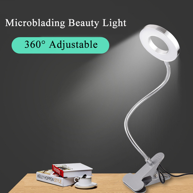 Permanent Makeup Light Lamp Table Clip USB Lip Liner Eyebrow Microblading Eyelash Extension Manicure Tattoo Accessories Supply