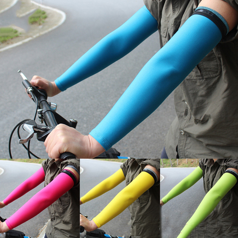 1 PCS Bicycle Running Sunscreen Basketball Arm Sleeve Long Breathable Compression Arm Warmer Protection Arm Elbow Support