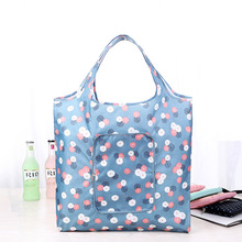 Eco friendly Multifunction Folding Shopping Bag Women Fashion Waterproof Printing Flower Foldable Reusable Shopping Grocery Bags
