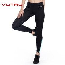 Фотография Vutru Women Ruuning Compression Pants Women Sports Gym Tights Woman Sportswear Leggings Sports Fitness Slim Mesh V7LD