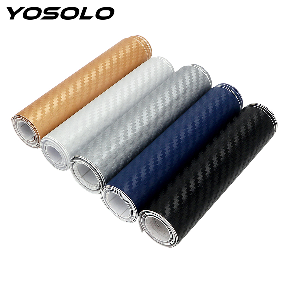 YOSOLO 10cm X 127cm Carbon Fiber 3D Car Stickers Tint Vinyl Film Car Styling Suitable For Refit Car Phone Case So On