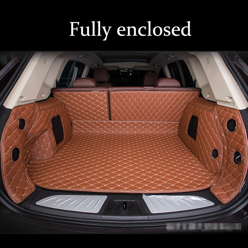 Leather Custom Car Trunk Mat For AUDI A3 A4 A5 4door A5 2door A6 Wagon A7 A8/A8L Q2 Q3 Q5 Q7 4seat 5seat S1 2door S4 SQ5 RS3 RS4