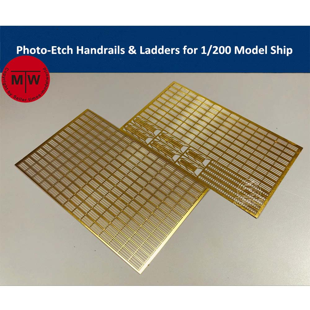 Фото-травления PE перила и лестницы для 1/200 масштабная модель корабля комплект CYE010(2 шт./компл.)