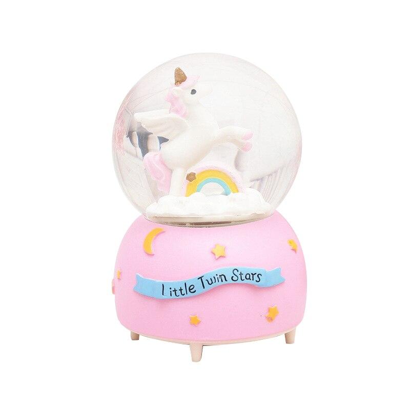 Snow Globes Unicorn//Flamingo//Swan Snowglobes Home Decoration Birthday Gift