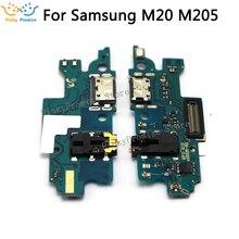 Para Samsung Galaxy M20 M205F M205FN M205G Placa USB Plugue Carregador de Carregamento Porto Dock Connector Flex Cable peças de Reposição