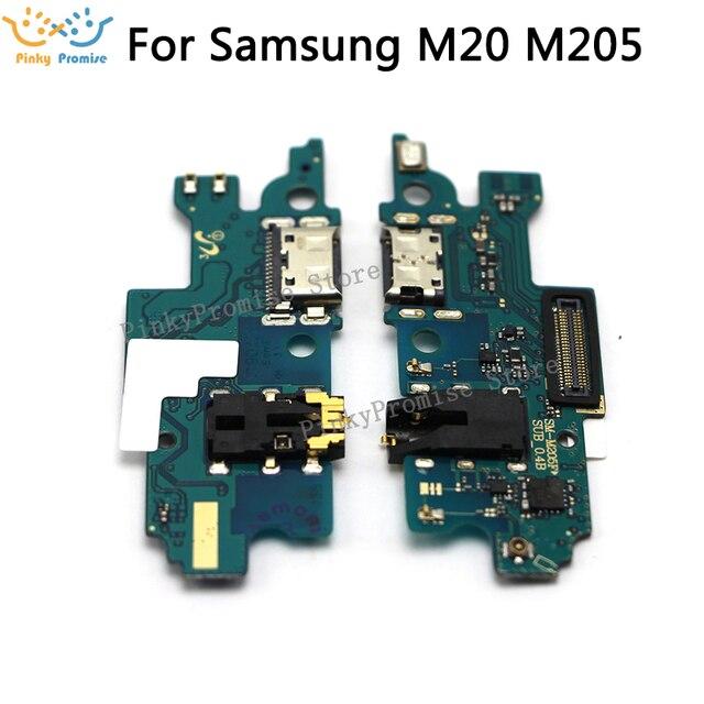 Samsung Galaxy M20 M205F M205FN M205G USB şarj portu şarj ünitesi fiş konnektörü Flex kablo yedek parçaları