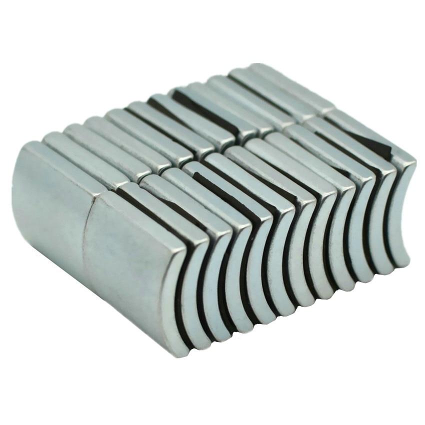 NdFeB Arc Segment OD49xID43x60degx23 mm N38H Diametrically Motor Magnet for Generators Wind Turbine Neodymium Magnet 6 72pcs