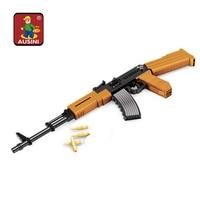 Ausini Toy Gun AK47 gun model toy Educational Military toys diy gun block models & building toys