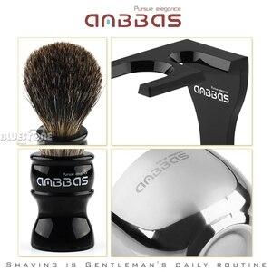 Image 4 - Anbbas Cắt Tóc Cạo Râu Bàn Chải Lửng Tóc, Đen Acrylic Đứng, Bát Bộ