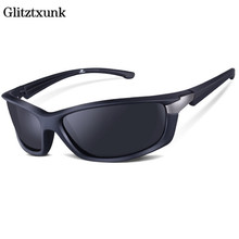 Glitztxunk Brand Men Polarized Sunglasses Rectangle Driving Glasses Mirror Sport Mens Sun Protection For