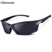 Glitztxunk Brand Men Polarized Sunglasses Rectangle Driving