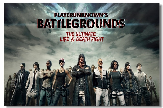 Custom Canvas Wall Mural Battlegrounds Poster Player
