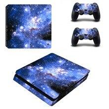 Nebula Star Nuvole Autoadesivo Della Pelle Del Vinile Per PS4 Console Sottile con 2 Controller Decalcomania Per Sony PlayStation 4 Coperchio di Protezione