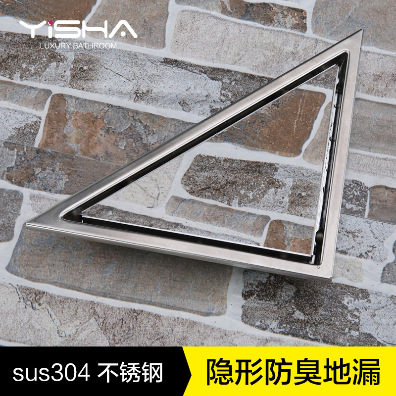 steel invisible floor drain, triangle deodorant floor drain, insect control, anti blocking floor drain cover nordic loft style industrial water pipe lamp vintage wall light for home antique bedside edison wall sconce indoor lighting