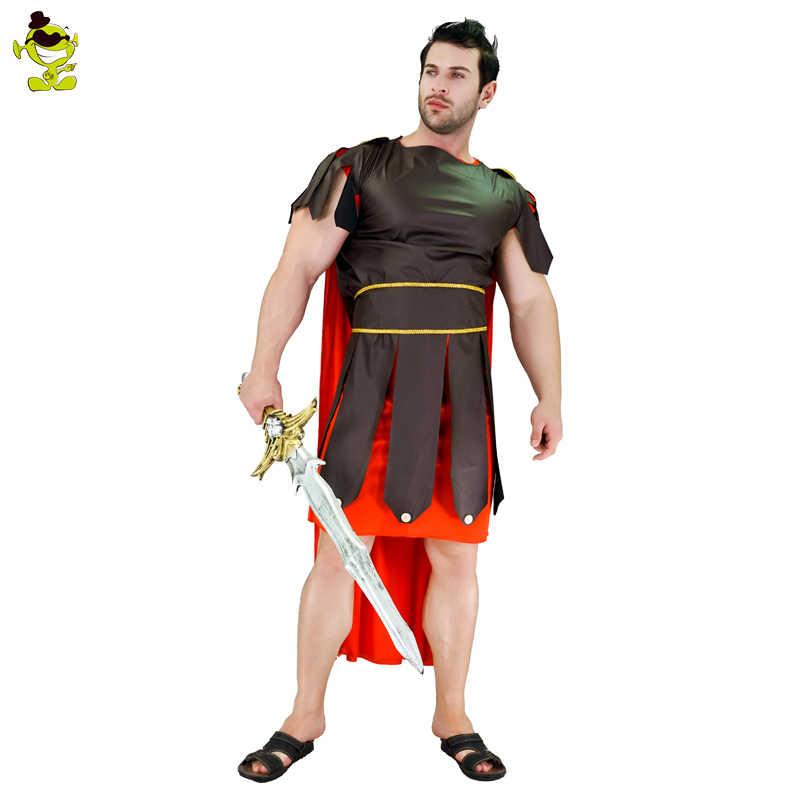 Spartan Warrior Roman Greek Soldier Gladiator Hercules Medieval Mens Costume