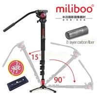 Miliboo MTT705Bポータブルカーボンファイバー三脚&