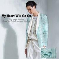 Italian Imports Fashion Sky Blue Cotton Weaving Fashion High End Coat Coat Fabric Free Shipping