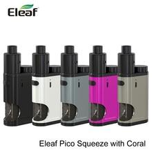 เดิมEleaf Picoบีบชุด18650แบตเตอรี่หุ้นบุหรี่อิเล็กทรอนิกส์กล่องสมัยPicoบีบที่มีปะการัง50วัตต์จัดส่งฟรี